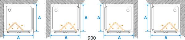 Душевой уголок Акватон Prima квадратный 90х90 см