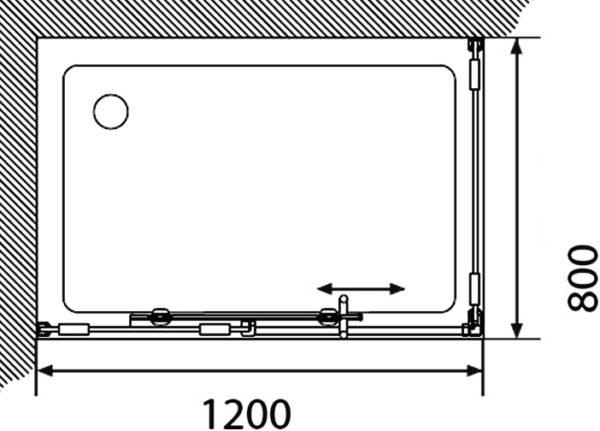 Душевой уголок Акватон Ritsa L прямоугольный 80х120 см