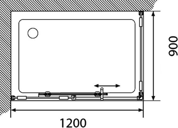 Душевой уголок Акватон Ritsa L прямоугольный 90х120 см