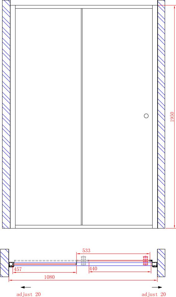 Душевая дверь в нишу Cezares Anima W BF1 110 P Cr