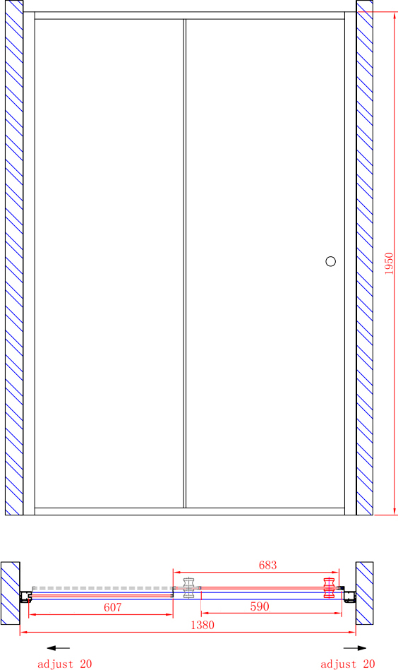 Душевая дверь в нишу Cezares Anima W BF1 140 C Cr