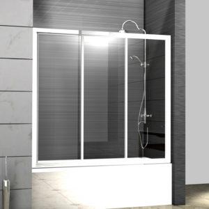Шторка на ванну Cezares Family B V 3 150/140 C Cr
