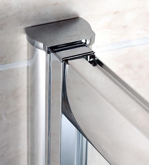 Шторка на ванну Cezares Pratico VF2 170/140 C Cr