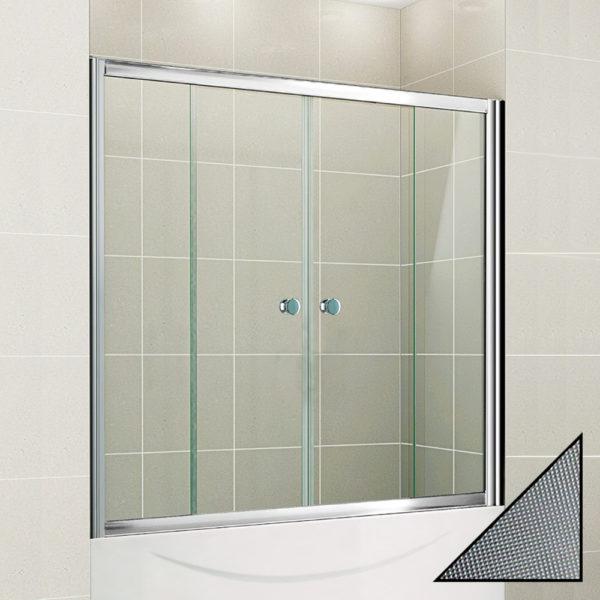 Шторка на ванну Cezares Pratico VF2 150/140 P Cr