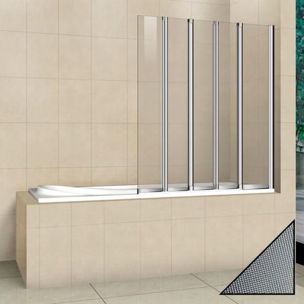 Шторка на ванну Cezares Pratico V5 120/140 P Cr R