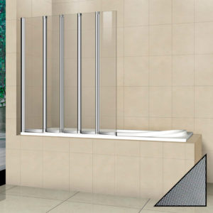 Шторка на ванну Cezares Pratico V5 120/140 P Cr L