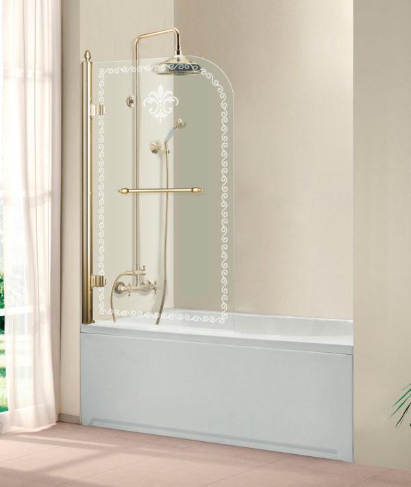 Шторка на ванну Cezares Retro V1 80/145 CP G L