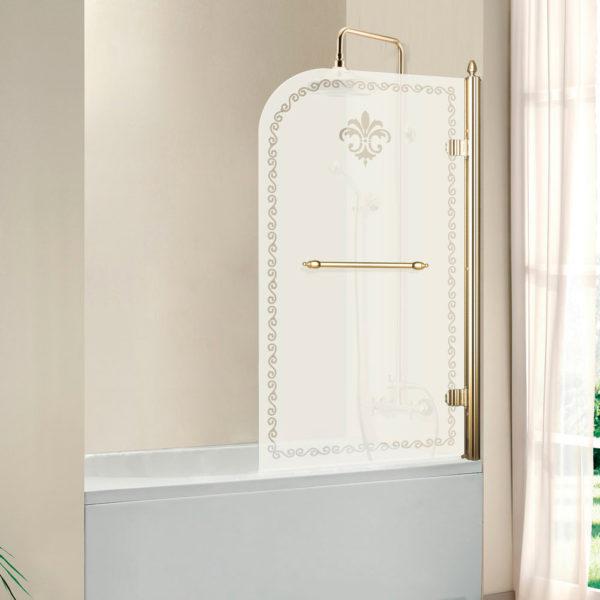 Шторка на ванну Cezares Retro V1 80/145 PP G R