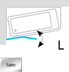 Шторка на ванну Ravak 10° 10CVS2 7QLA0U03Z1 L