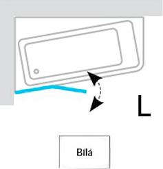 Шторка на ванну Ravak 10° 10CVS2 7QLA0103Z1 L