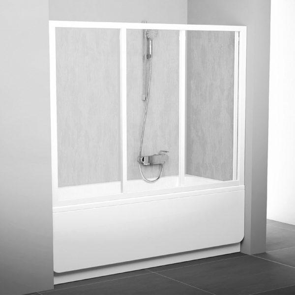 Шторка на ванну Ravak AVDP3-160 Rain, профиль белый