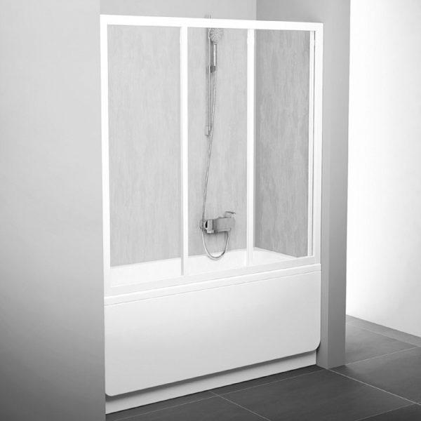 Шторка на ванну Ravak AVDP3-120 Rain, профиль белый