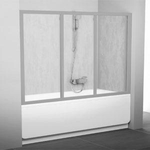 Шторка на ванну Ravak AVDP3-180 Rain, профиль сатин