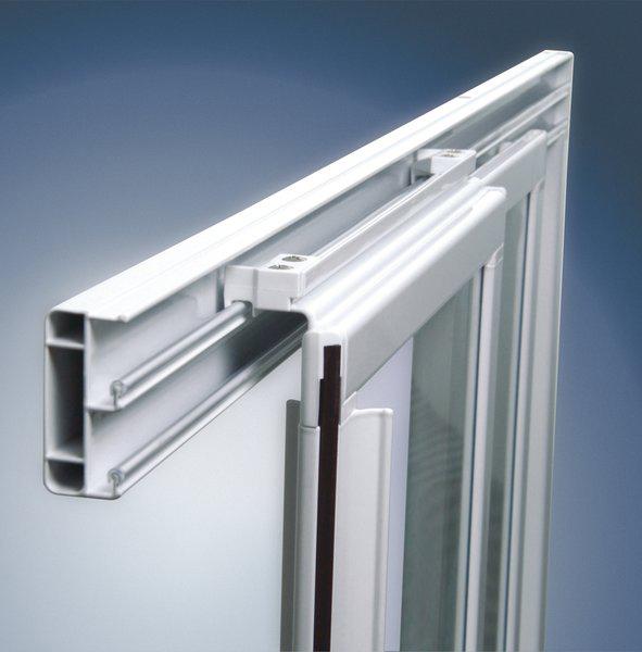 Душевая дверь в нишу Ravak ASDP3-120 Transparent, профиль белый