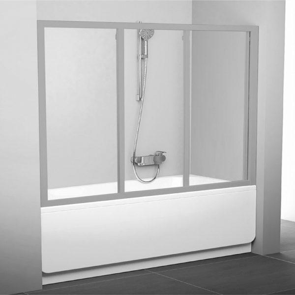 Шторка на ванну Ravak AVDP3-180 Transparent, профиль сатин