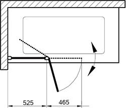 Шторка на ванну Ravak CVS2-100 L Transparent, профиль блестящий