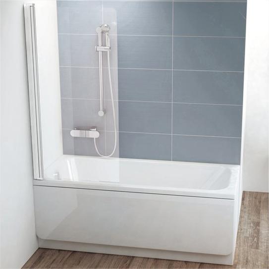 Шторка на ванну Ravak CVS1-80 L Transparent, профиль белый