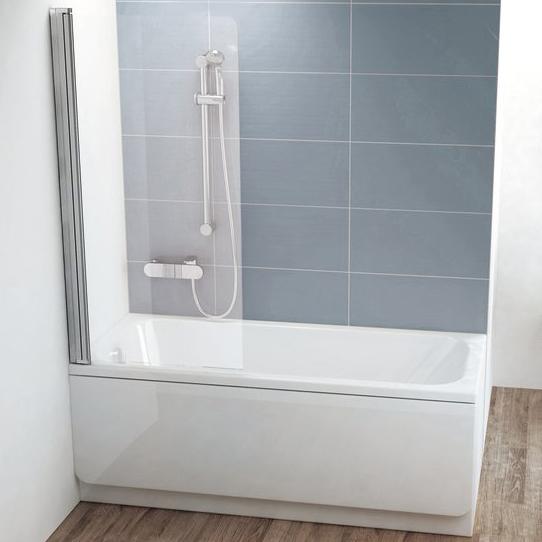 Шторка на ванну Ravak CVS1-80 L Transparent, профиль блестящий