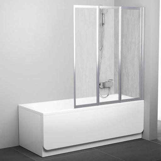 Шторка на ванну Ravak VS3 130 Rain, профиль сатин