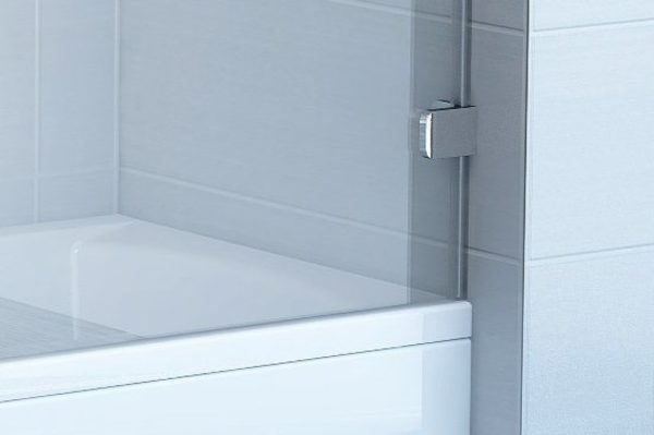 Шторка на ванну Ravak BVS1-80 Transparent, фурнитура хром
