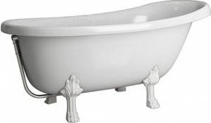 Ванна из искусственного камня Фэма Салерно белая, белые ножки