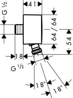 Шланговое подключение Hansgrohe PuraVida Fixfit 27414000