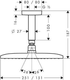 Верхний душ Hansgrohe Raindance E Air 27380000