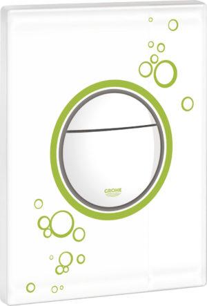 Кнопка смыва Grohe Nova Cosmopolitan 38847LS0 белая с зеленым