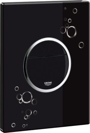 Кнопка смыва Grohe Nova Cosmopolitan 38847KI0 черный с белым