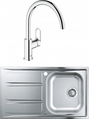 Комплект Мойка кухонная Grohe K400 31566SD0 + Смеситель Grohe BauLoop 31368000 для кухонной мойки