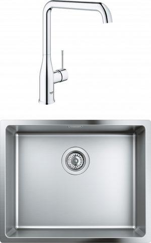 Комплект Мойка кухонная Grohe K700U 31574SD0 + Смеситель Grohe Essence 30269000 для кухонной мойки