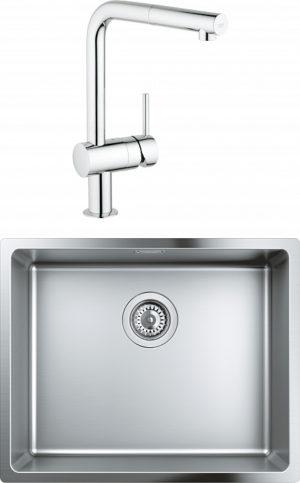 Комплект Мойка кухонная Grohe K700U 31574SD0 + Смеситель Grohe Minta 32168000 для кухонной мойки