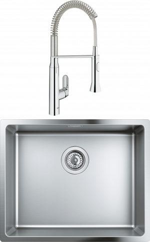 Комплект Мойка кухонная Grohe K700U 31574SD0 + Смеситель Grohe K7 31379000 для кухонной мойки