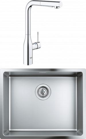 Комплект Мойка кухонная Grohe K700U 31574SD0 + Смеситель Grohe Essence 30270000 для кухонной мойки