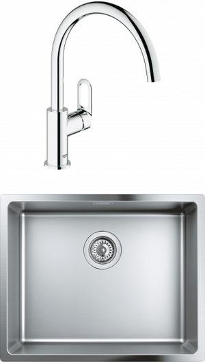 Комплект Мойка кухонная Grohe K700U 31574SD0 + Смеситель Grohe BauLoop 31368000 для кухонной мойки