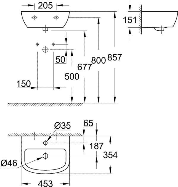 Рукомойник Grohe Bau Ceramic 39424000