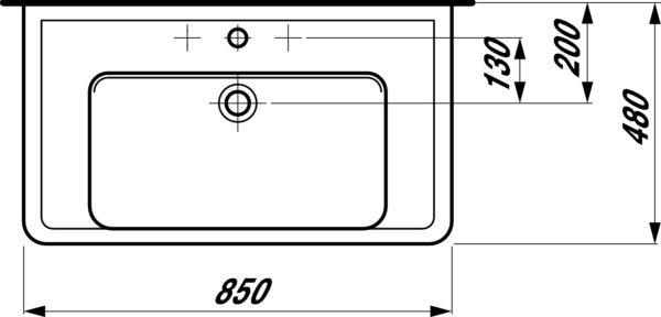Раковина Laufen Pro 8.1395.6.000.104.1 накладная