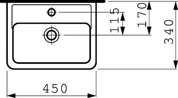 Рукомойник Laufen Pro 8.1195.1.000.104.1