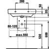 Раковина Laufen Pro S 8.1895.9.000.104.1