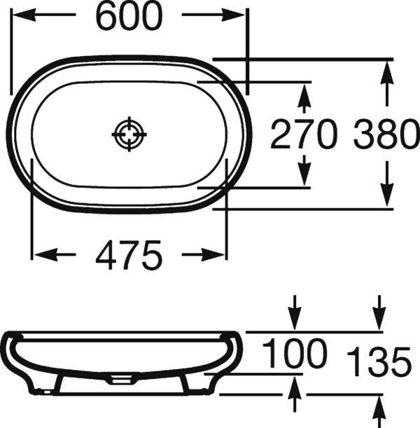 Раковина Roca Art 327221000 60 см