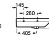 Раковина Roca Dama Senso Compacto 327518000 L угловая