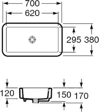 Раковина Roca Element 327572000 70 см