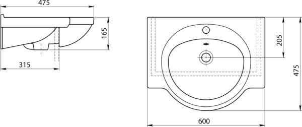 Раковина Santeri Сатурн 60