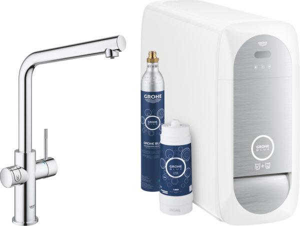 Смеситель Grohe Blue Home 31454000 для кухонной мойки с фильтром и охладителем-карбонизатором