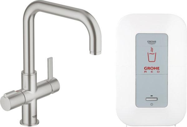 Смеситель Grohe Red Duo 30145DC0 для кухонной мойки, с водонагревателем