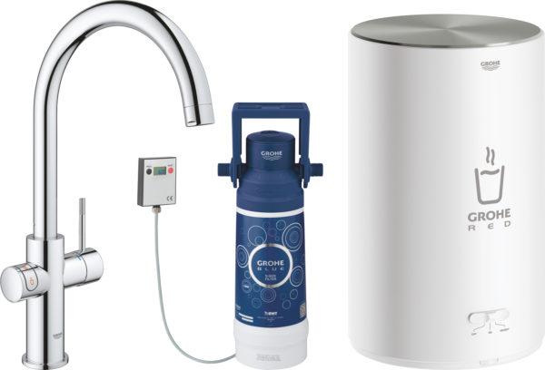 Смеситель Grohe Red II Duo 30083001 для кухонной мойки, с водонагревателем