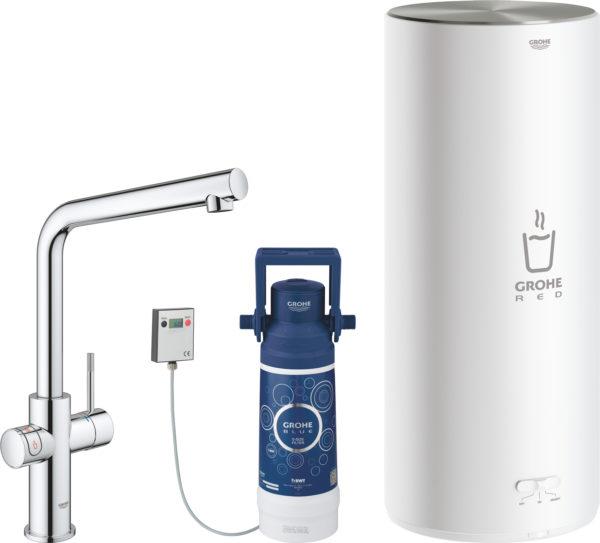 Смеситель Grohe Red II Duo 30325001 для кухонной мойки, с водонагревателем