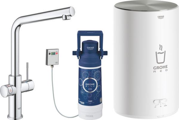 Смеситель Grohe Red II Duo 30327001 для кухонной мойки, с водонагревателем
