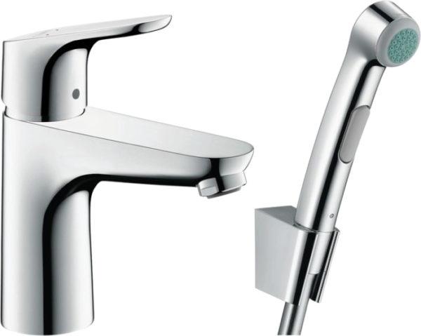 Смеситель Hansgrohe Focus 31927000 для раковины с гигиеническим душем, с донным клапаном Push-Open