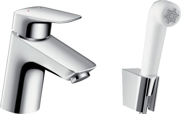 Смеситель Hansgrohe Logis 71290000 для раковины с гигиеническим душем